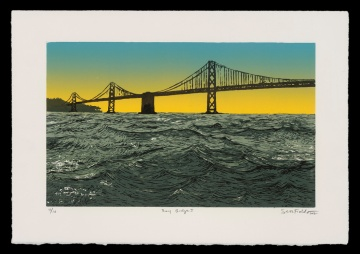"Bay Bridge I (11"" x 16""), $300 (edition of 10)"