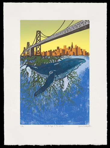 "The Bridge and The Whale (15"" x 8""), $275 (edition of 9)"