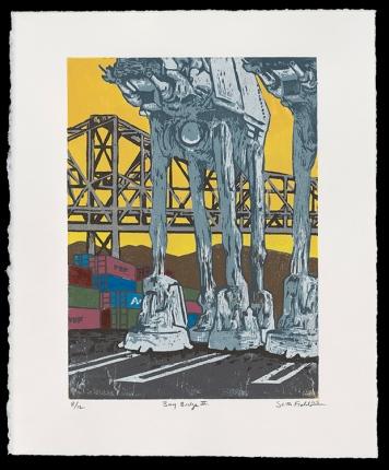 "Bay Bridge II (13"" x 11""), $225 (edition of 12)"
