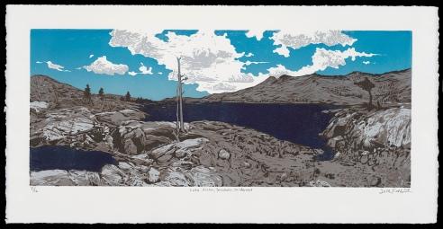 """Lake Aloha, Desolation Wilderness (11"""" x 22""""), $350 (edition of 12)"""