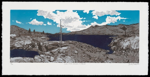 "Lake Aloha, Desolation Wilderness (11"" x 22""), $350 (edition of 12)"