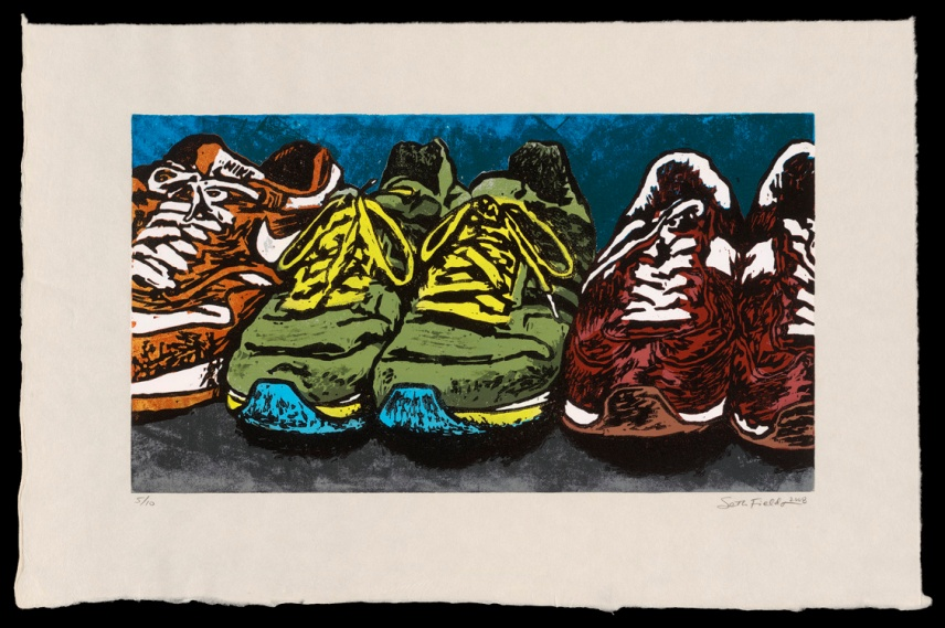 "Shoes #1 (13"" x 20""), $350 (edition of 10)"