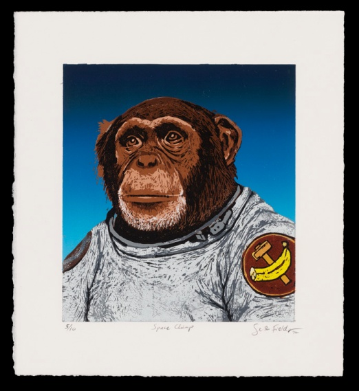 "Space Chimp (9"" x 8""), SOLD OUT (edition of 10)"