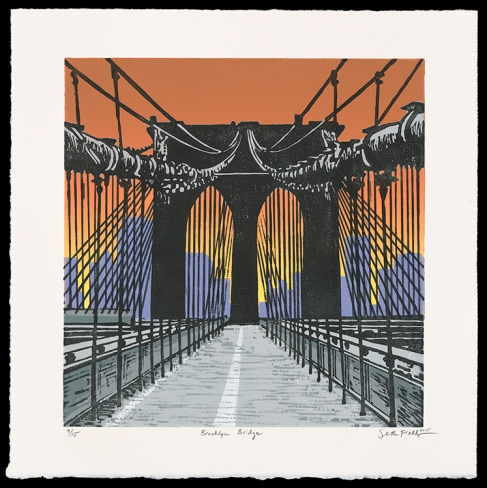 "Brooklyn Bridge (10"" x 9.75""), $225 (edition of 15)"