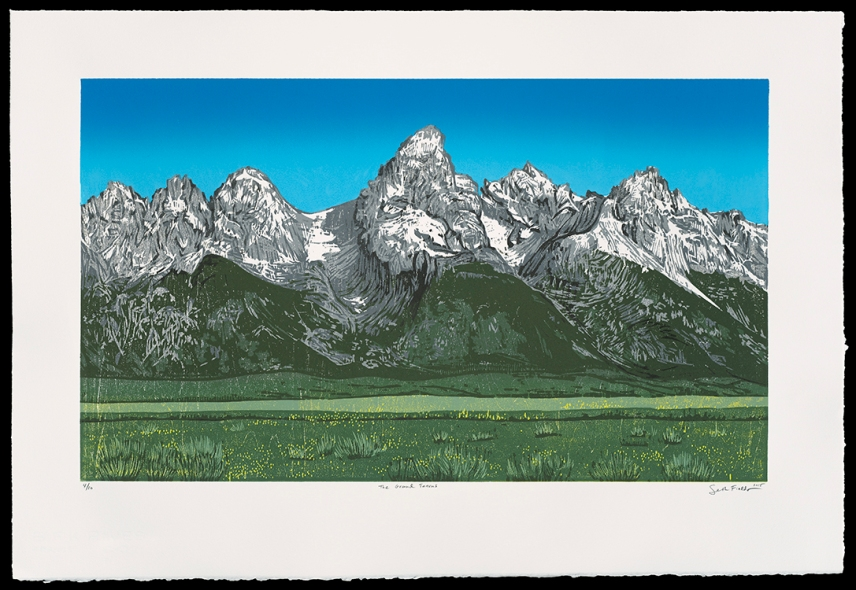 "The Grand Tetons (14"" x 24""), $600 (edition of 10)"