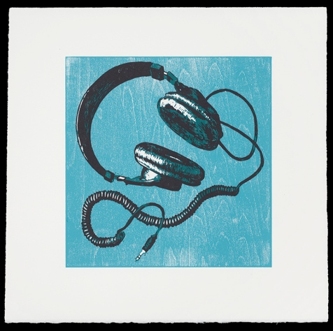 "Headphones (9.75"" x 10""), $175 (edition of 10)"