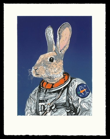 "Space Hare (12"" x 9""), $225 (edition of 10)"