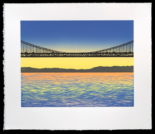 "Bay Bridge #3 (10"" x 13""), $300 (edition of 10)"